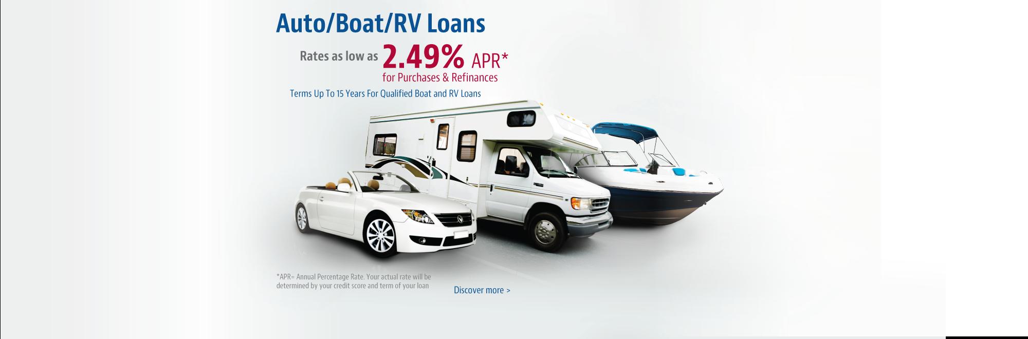 Auto/Boat/RV Loans