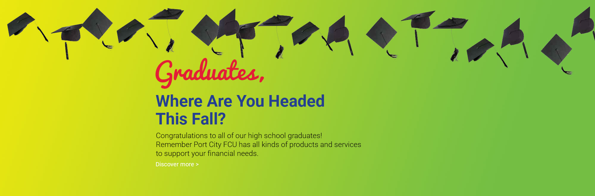 Congratulations to All of Our High School Graduates