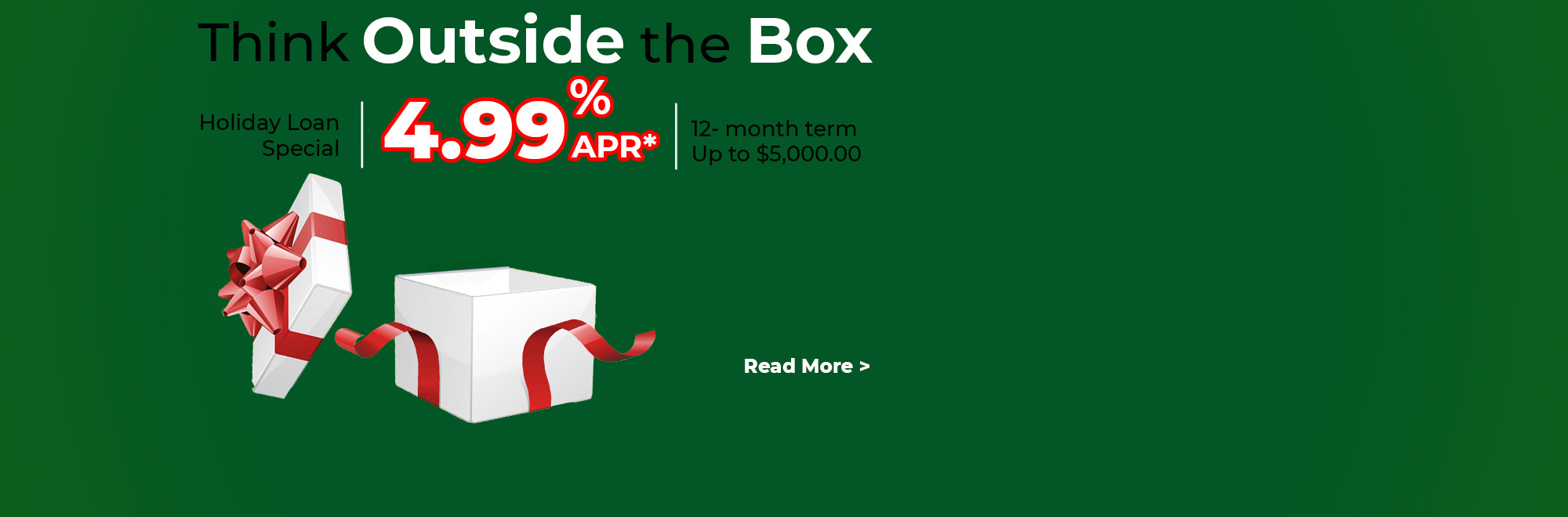 Think Outside The Box Holiday Loan